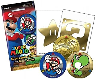 Enterplay - Super Mario Challenge Coin - BLIND PACK (1 Coin & 1 Decal Sticker)