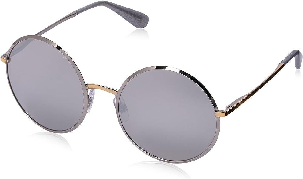 Dolce & gabbana, occhiali da sole per donna, montatura in metallo, lenti colore argento DG2155 C561