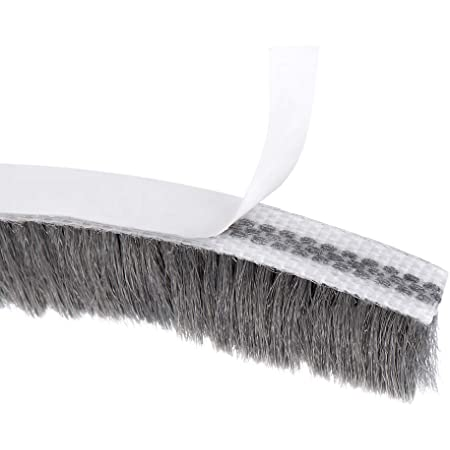 Felt Pile Weather Stripping 11//32-inch W x 3//16-inch H 4.9M Black Adhesive Brush Seal Weatherstripping for Windows Bottom and Frame,Sliding Doors Frame