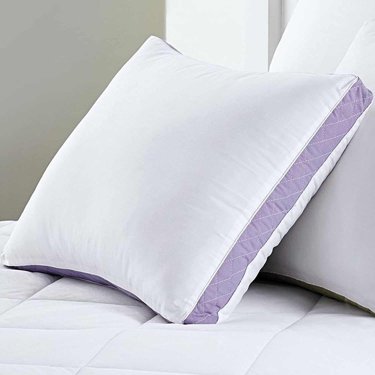 Sweet Home Collection  Premium Hypo-Allergenic 233 Thread Count Gusseted Quilted Sidewall Pillow (2 Pack), Queen
