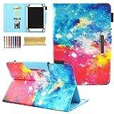 Dteck Universal-Schutzhülle für Samsung Galaxy Tab 7.0 / Amazon Kindle Fire 7.0 / MediaPad / Google / Asus / Kobo & mehr, 16,5 cm - 19,1 cm (6,5 - 7,5 Zoll) Tablet, Sternenhimmel