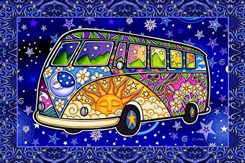 hippie bus tapestry