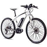 CHRISSON 27,5 Zoll E-Bike Mountainbike Bosch - E-Mounter 3.0 Weiss 52cm - Elektrofahrrad, Pedelec für Damen und Herren - Bosch Motor Performance Line CX 250W, 75Nm - Intuvia Computer