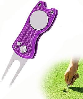 ゴルフフォーク 折りたたみ式 ゴルフ フォーク 修理 フォーク 持ち運び便利 亜鉛合金 ゴルフ 用品 アクセサリー 贈り物 1個入り