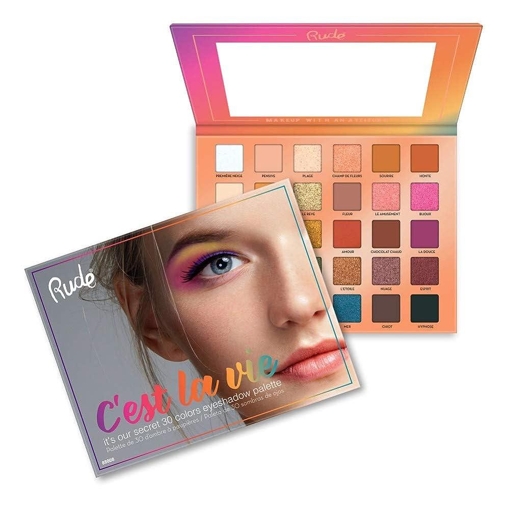 床を掃除するムスタチオパンチRUDE? C'est La Vie - 30 Eyeshadow Palette (並行輸入品)