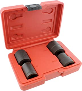 ABN 1/2 Inch Drive Wheel Lock Removal Kit Lug Nut Remover Locking Lug Nut Removal Tools Bolt Extractor Set SAE 4pc Kit