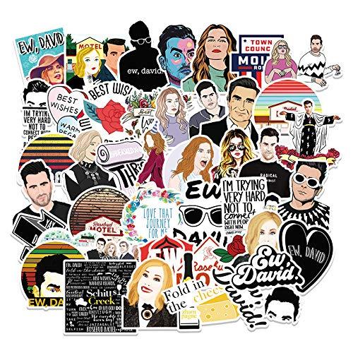 JZLMF 50 Series de televisión Americana, Pegatinas de Graffiti de Carretera Ricos y pobres, Maleta, portátil, teléfono móvil, Coche, Nevera, decoración, Pegatinas para niños y niñas