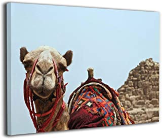 Hd8yehao Desert Animal Dubai Moroccan Bohemian Camel Canvas Wall Art Prints Photo Contemporary Paintings Home Decoration Giclee Artwork Wood Frame Gallery Wrapped