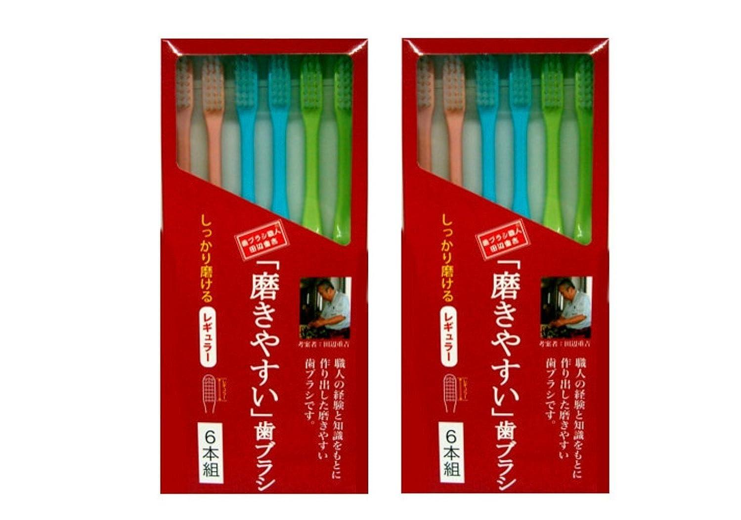 いつも望ましいデッドロック磨きやすい歯ブラシ 6本組 レギュラータイプ×2個セット