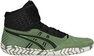 (10 D(M) US, Cedar Green/Black) - ASICS Aggressor 4 Men's Wrestling Shoes