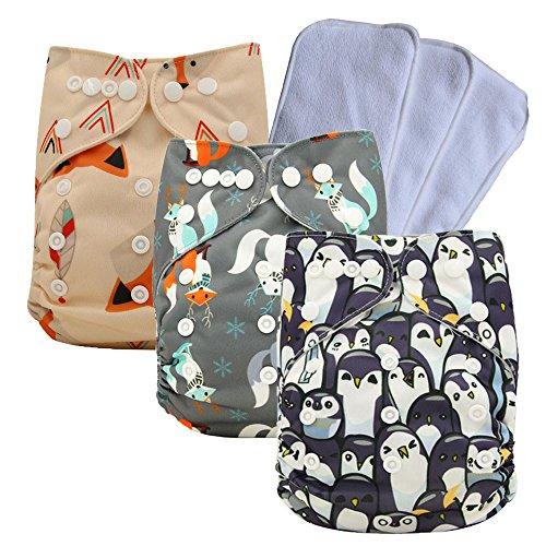 Ohbabyka Reusable Washable Baby Boys/Girls Pocket Cloth Diapers with 1pc Insertohbabyka Wiederverwendbare Unisex Baby Tuch Pocket Windeln All in One mit 1?weichen Tuch inneren
