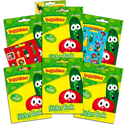 Veggie Tales Party Supplies Veggie Tales Ultimate Sticker Party Favors Packs -- 6 Sticker Packs
