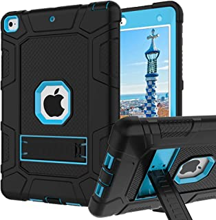iPad 6th Generation Cases, iPad 2018 Case, iPad 9.7 Inch Case,Hybrid Shockproof Rugged Drop Protection Cover Built with Kickstand iPad 9.7 inch A1893/A1954/A1822,/A1823 (Blue)