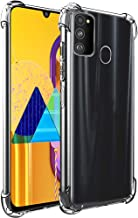 TheGiftKart Flexible Shockproof Crystal Clear TPU Back Cover Case with Cushioned Edges for Ultimate Protection for Samsung Galaxy M30s (Transparent) [ Launch Offer ]