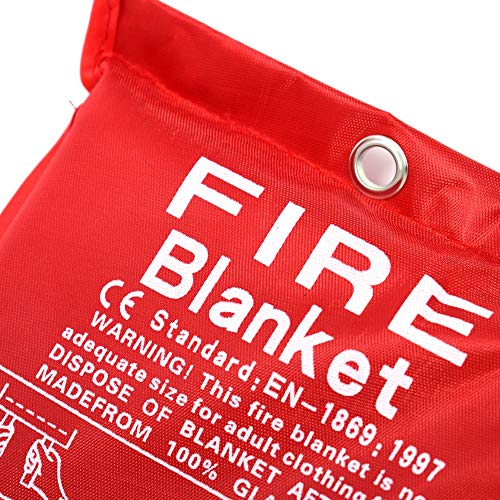 Large Fire Extinguisher Blanket. Chemical Free, No Mess, Easy to Store, Fire Extinguisher.