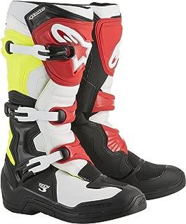 Alpinestars Tech 3 Motocross Off-Road Boots 2018 Version Men's Black/White/Yellow Size 10