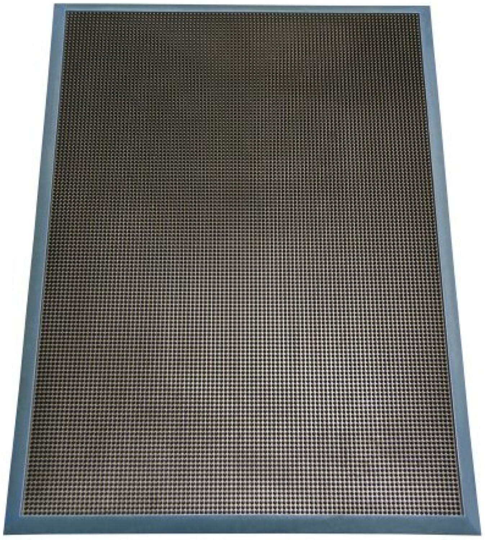 Rubber-Cal Door Scraper Rubber Door Mats - 5 8  Thick x 24inch x 32inch - bluee Borders Front Doormat