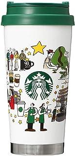 STARBUCKS スターバックス スタバ ステンレスTO GOロゴタンブラーコーヒージャーニー473ml ロースタリー 食器 ロゴ 水筒 ホワイト コーヒー Starbucks reserve ロースタリー 日本 東京 中目黒 限定