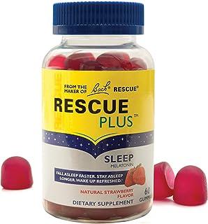 RESCUE PLUS Sleep Gummy, Dietary Supplement Sleep Aid, Natural Strawberry Flavor – 60 Gummies