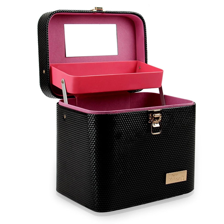 コスメボックス コスメBOX 大容量 収納ボックス メイクボックス 二層 2段タイプ 化粧ポーチ メイクポーチ 携帯便利 取っ手付き 化粧道具入れ ミラー付き おしゃれ 高品質 母の日 誕生日 祝日プレゼント 旅行出張 おすすめ
