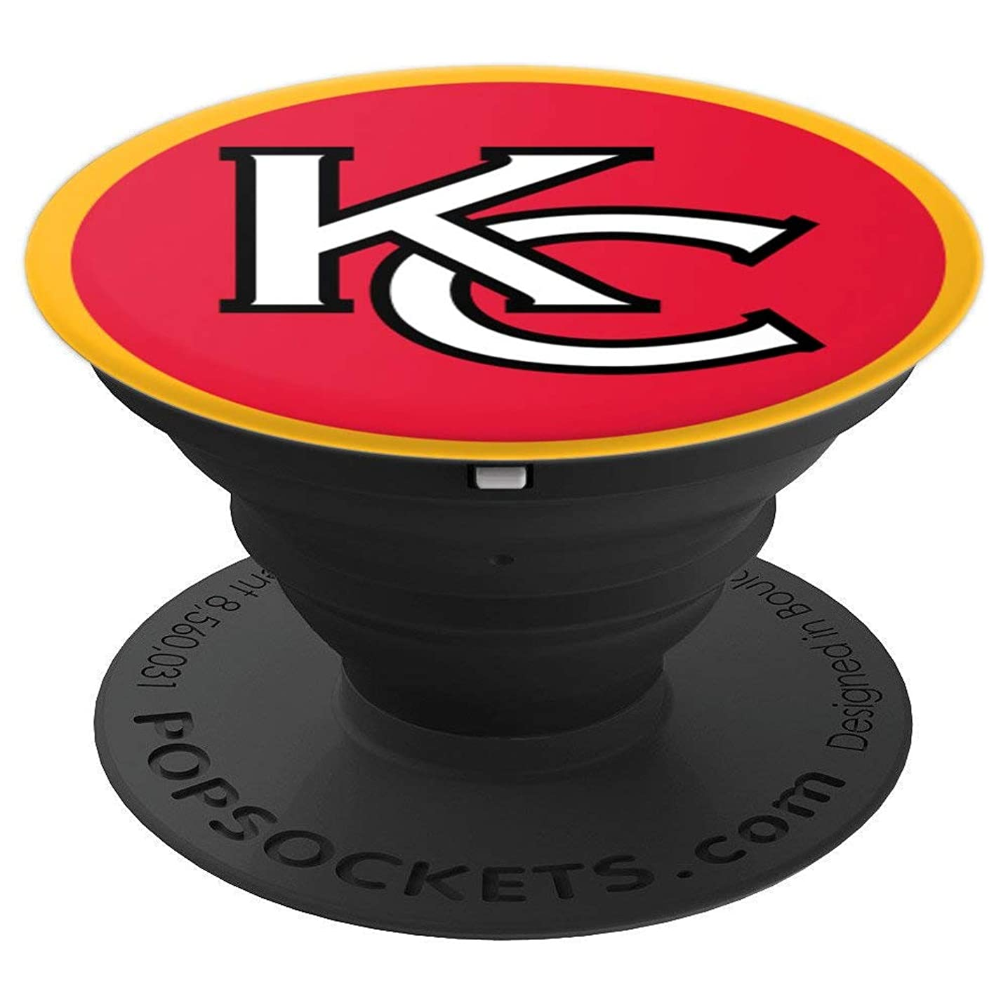 Kansas City Football KC Rounded Logo - PopSockets Grip and Stand for Phones and Tablets