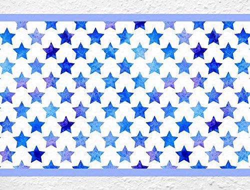 I-love-Wandtattoo Kinderzimmer Bordüre Borte Sterne Sternenhimmel Tapete Kinder selbstklebend