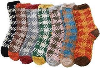 KESYOO, KESYOO7 pares de calcetines gruesos de tobillo de lana coralina Calcetines gruesos y cálidos Calcetines mullidos para dormir