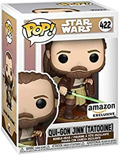 Funko Pop! Star Wars: Across the Galaxy - Qui-Gon Jinn (Tatooine), Amazon Exclusive
