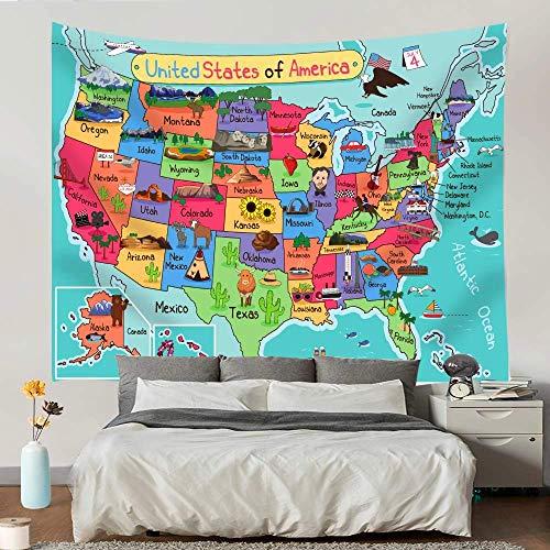 Paquete de mapas de Estados Unidos con tapiz ABC Learning Alphabet