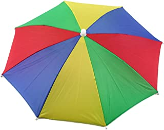 Crazy Cart Umbrella hat Protect Your Head for Fishing Beach Golf Party for Adults & Kids