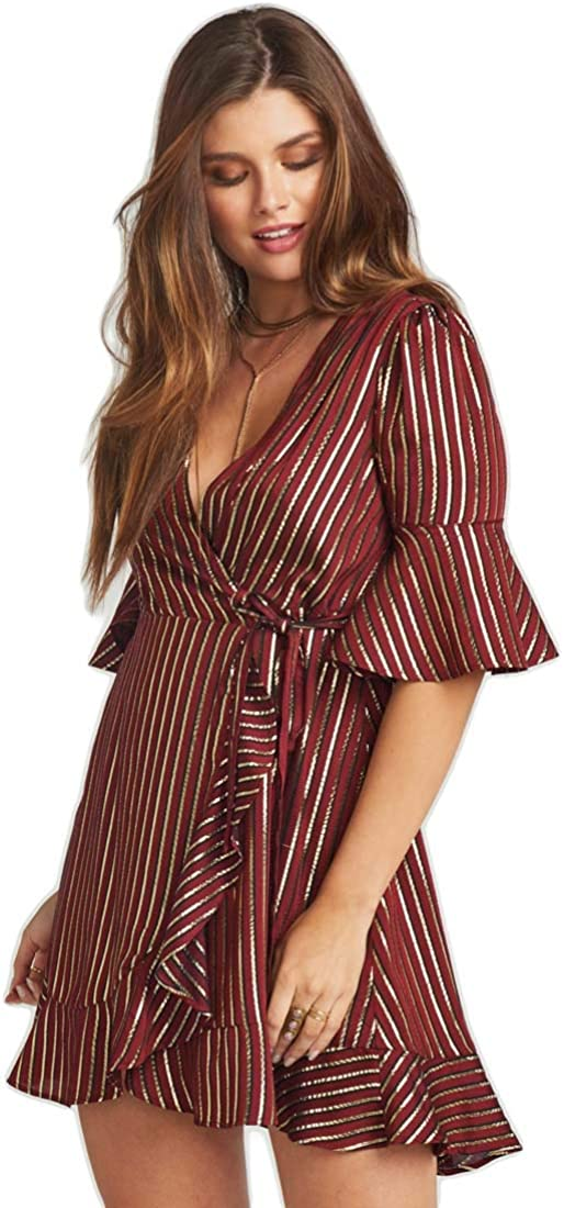 Show Me Your Mumu Women's Leslie Mini Wrap Dress