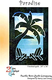 Paradise Palm Tree 2 Fabric Applique Nancy Lee Chong Pacific Rim Quilt Pattern