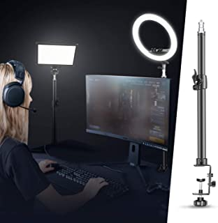 Neewer Tabletop Light Stand Clip Stand with 1/4inch Screw for Ring Light and LED Light, Aluminum Alloy, Adjustable 12.5-2...