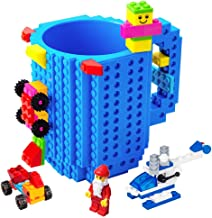 Pack of 4 Reusable Brick Party Kids Cup for Block Birthday Party Supplies and Favors by Bedwina Building Blocks Cups with Straw /& Lid