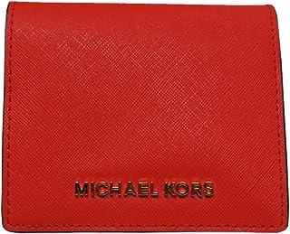 Michael Kors ジェットセット トラベルレザー キャリーオール カードケース ウォレット ダークサングリア