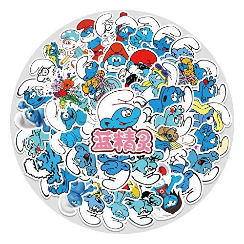WYZNB Cartoon Graffiti Schlumpf Anime Aufkleber Laptop Gepäck Auto Wasserdicht Aufkleber 52 Blatt