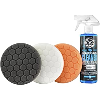 "Chemical Guys HEX_3KIT_6 6.5"" Buffing Pad Kit,4 Items, 16 fl. oz, 4 Pack"