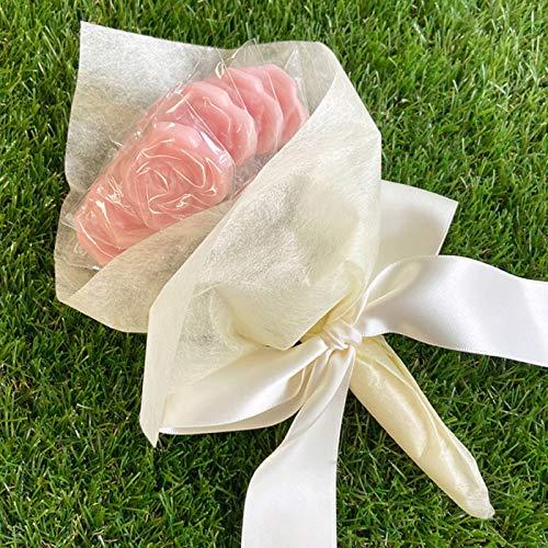 ローズのキャンディーブーケ1束(スティックキャンディー苺ミルク味10本入)結婚式 プチギフト 薔薇 花束 飴 母の日ギフト ホワイトデー