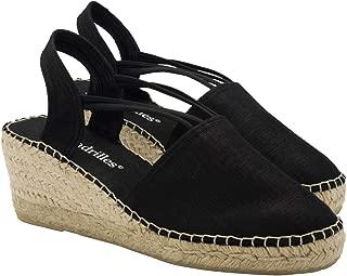 2 Espadrilles from Barcelona - Sandals Shoes Handmade in Spain - Espadrilles Heel Isabel