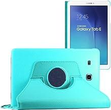 ebestStar - Coque Compatible avec Samsung Galaxy Tab E 9.6 T560, T561 Housse Protection Etui PU Cuir Support Rotatif 360, Bleu [Appareil: 241.9 x 149.5 x 8.5mm, 9.6'']