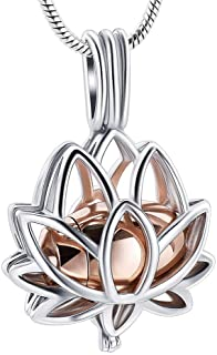 Cremation Jewelry Urn Pendant Necklace with Hollow Urn...