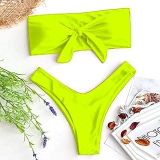 4bc8b526a09 SHUCHANGLE Bikini Halter Set Traje De Baño,Moda Mujer Sexy Bow Tie La Parte  Superior