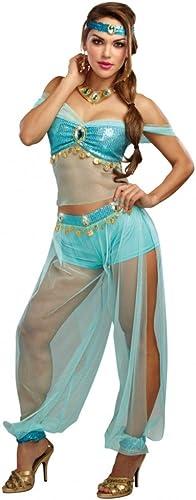 Dreamgirl Kostüm Harems Prinzessin, Gr. M,Top Haremshose türkis Orient 1001 Nacht
