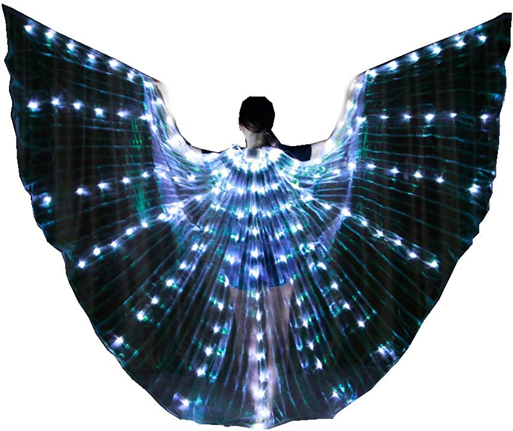 Belly Dance LED Props Wings Superlatite Dancing security Sticks with Performanc