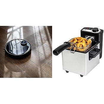 Cecotec Robot Aspirador Conga Serie 3690 Absolute + Freidora Eléctrica CleanFry: Amazon.es: Hogar