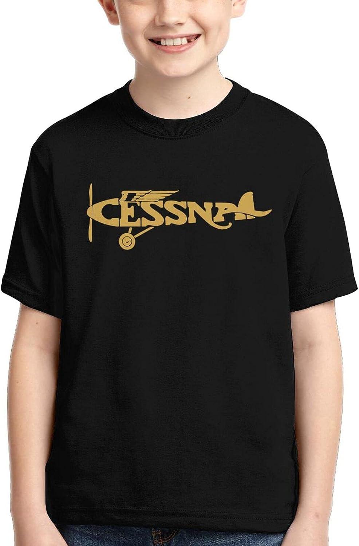 Cessna Vintage Mail order Direct stock discount Logo Boys Girls T-Shirt T-Shirts 3D Kids