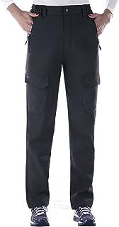 Nonwe Ladies' Winter Warm Water-Resistant Workouts Fleece Lined Climbing Sweat Pants Windproof Deep Gray M/29 Inseam