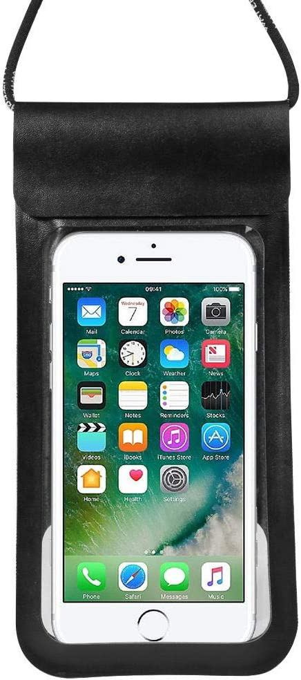 Universal Waterproof Phone Pouch Floating Cellphone Case Dry Bag for iPhone Xs Max / 8 Plus/ 7 Plus/Samsung Galaxy S10 Plus / S9 / Note 9 / Note 8 / A8 /Moto G7 / LG V40 ThinQ (Black)