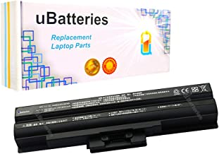 UBatteries Compatible 49Whr Battery Replacement For Sony VGN-CS209J/P VGN-SR490JBB VGN-CS220D VGN-CS215J/W VGN-SR490Y VGN-SR490PDB - 11.1V, 4400mAh (Black)