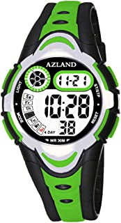 AZLAND Multiple Alarms Waterproof Kids Watches Boys Girls Digital Sports Teenagers Wristwatch